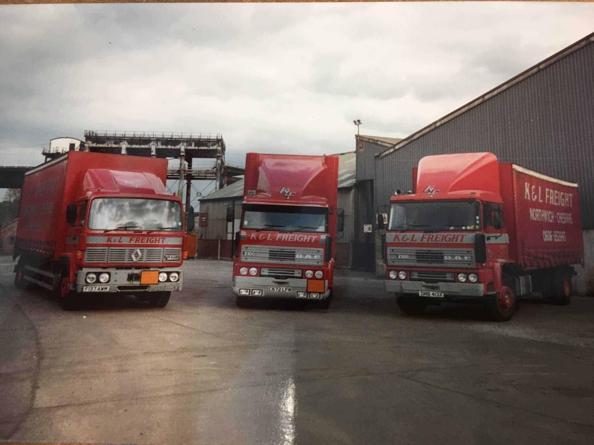 K&L Freight trucks in 1992
